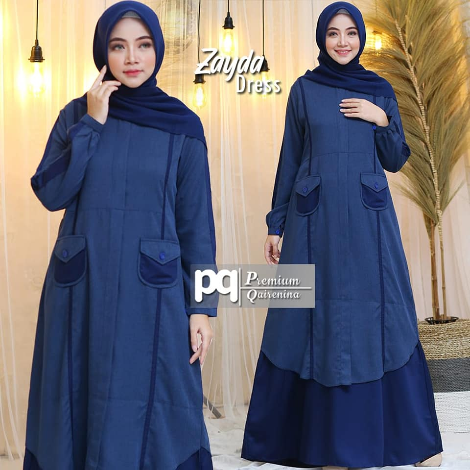 82820760_2859325200785197_4073587256881840128_n ZAYDA DRESS NAVY BY PREMIUM QAIRENIA