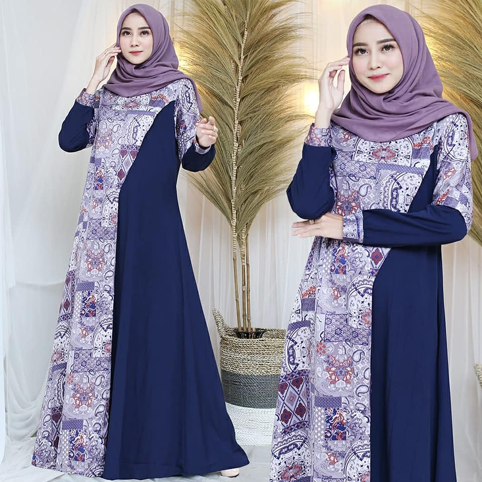 90470620_3006577339393315_6696124511504302080_n GAMIS COMBINASI NAVY BY ABROR