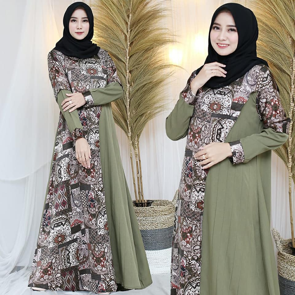 90783056_3006577456059970_8624250032075309056_n GAMIS COMBINASI ARMY BY ABRORR