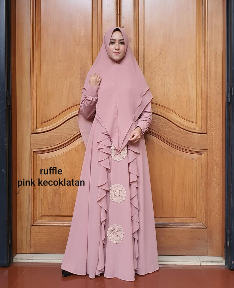 91488274_3006668386050877_8410127310866350080_n RUFFLE DRESS PINK KECOKLATAN BY AIDHA