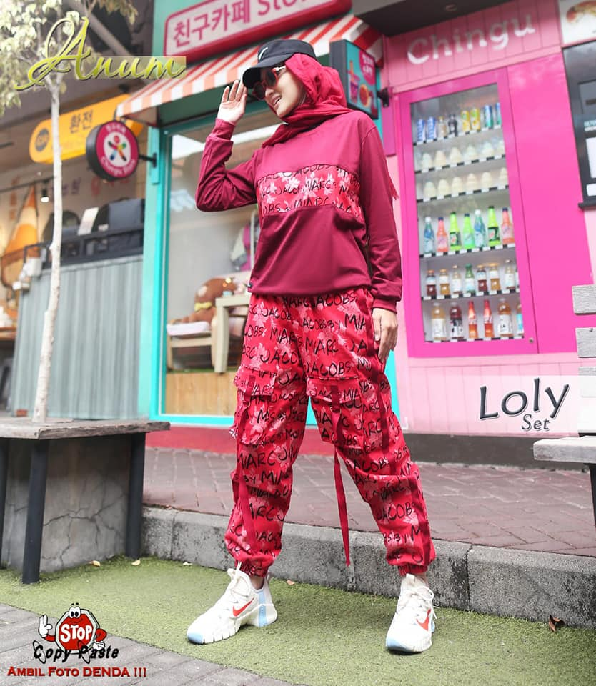 1f60a LOLY SPORTY MAROON  BY ANUM